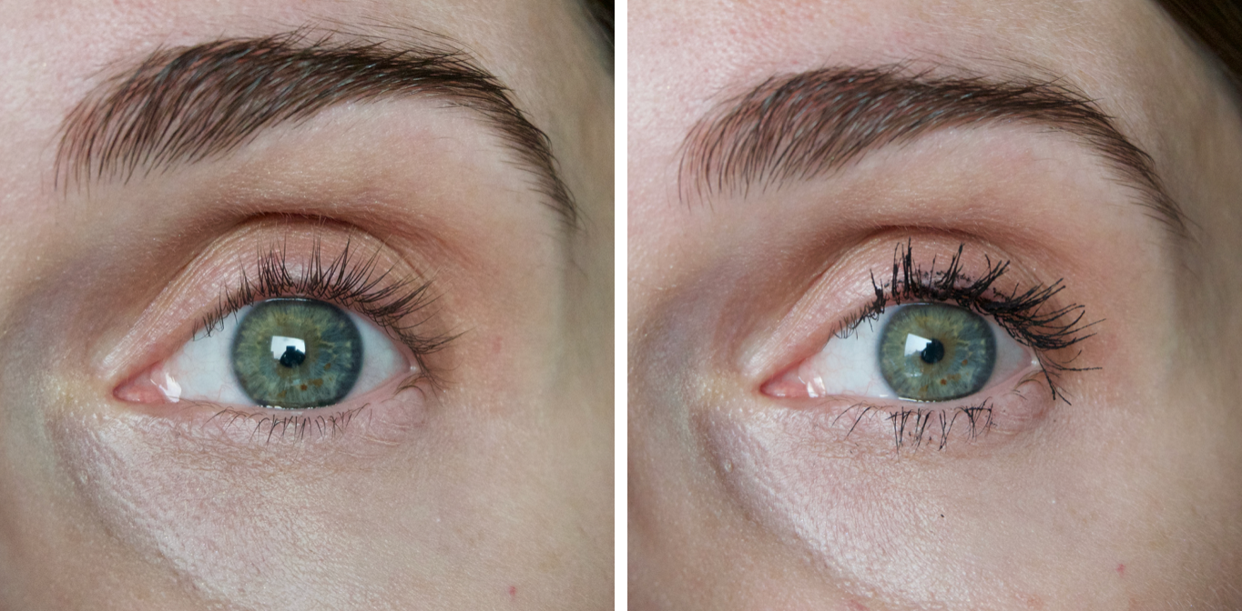 Pillow Talk Push Up Lashes Mascara comparison on the eyes