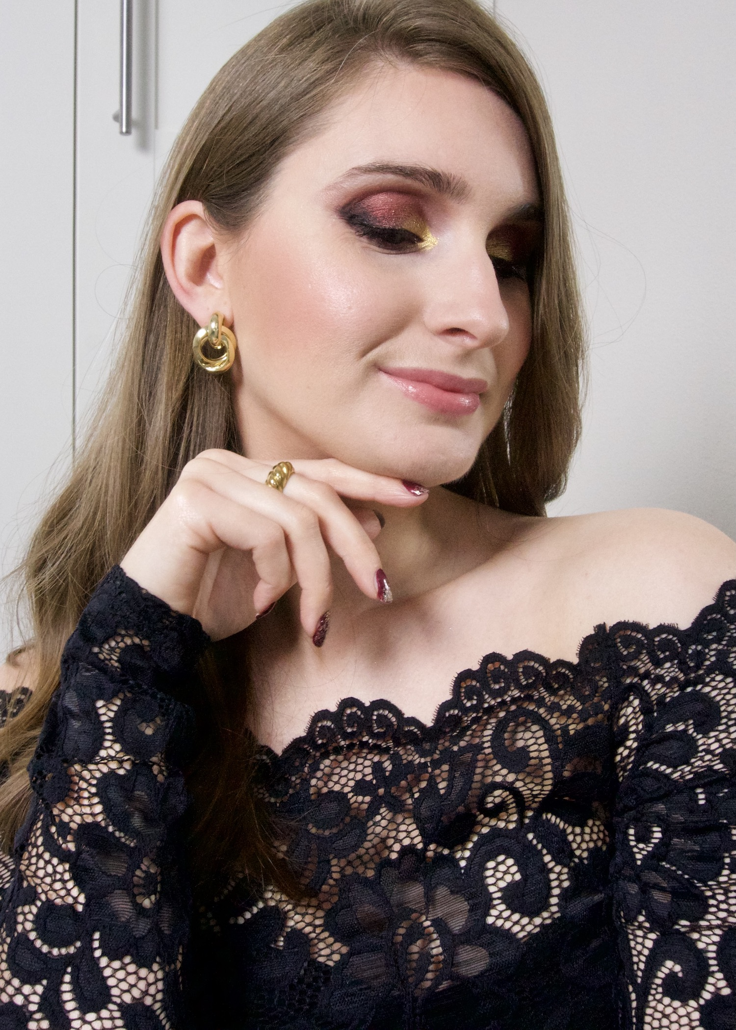 Glamorous Kerst make-up look 2020