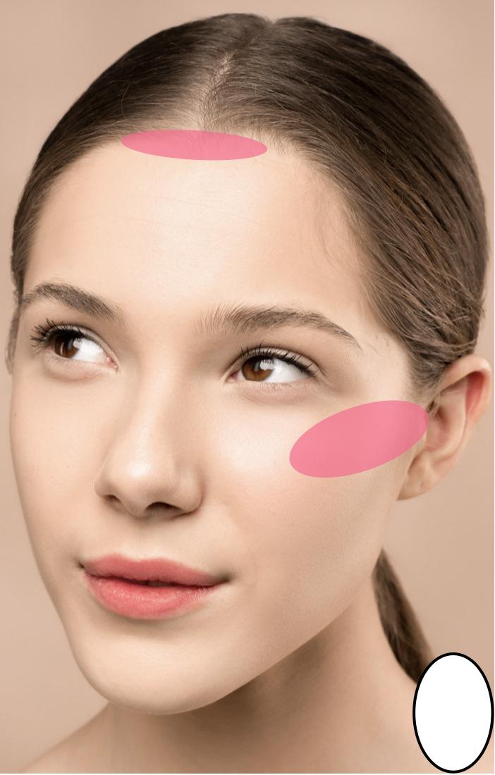 blush aanbrengen ovaal gezichtsvorm