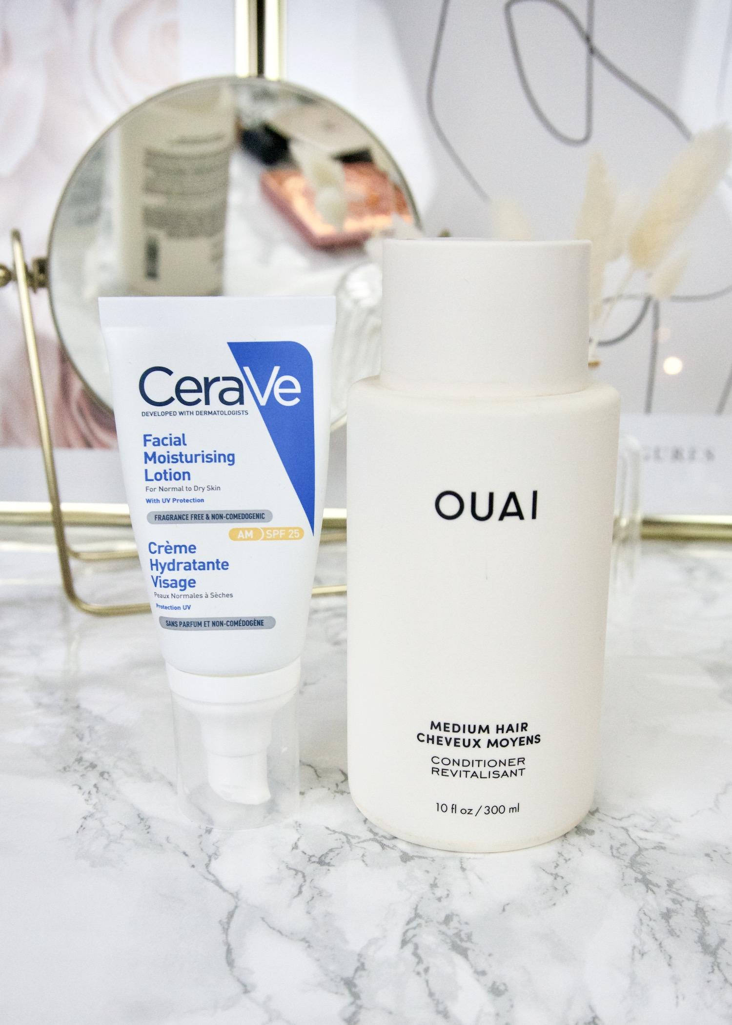beauty favorieten lente CeraVe moisturizing lotion SPF, OUAI conditioner