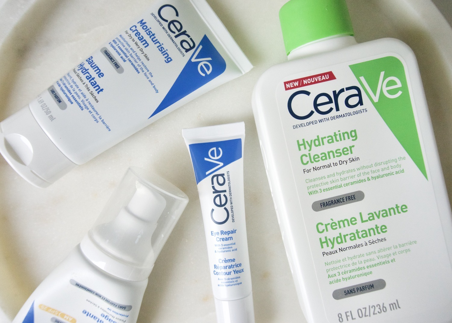Review CeraVe Hydrating Cleanser, Eye Repair Cream & Moisturizing Lotions (SPF)